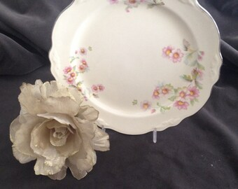 Vintage Homer Laughlin Virginia Rose Lunch Plate/ china/ shabby chic