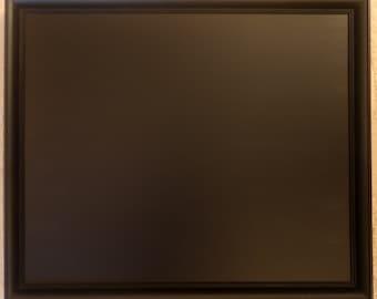 Large Black Wooden Framed Chalkboard / Blackboard / Message board