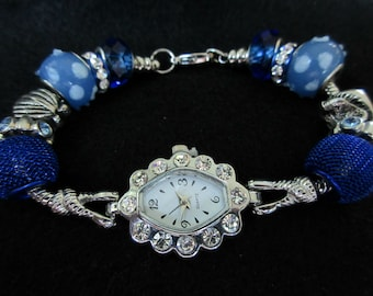 Inspired seashell charm watch, european style charm watch