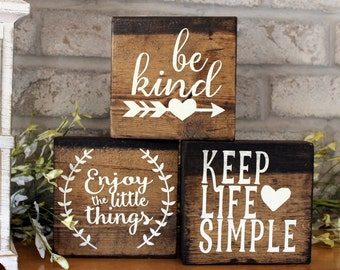 Wooden Signs With Quotes Etsy
