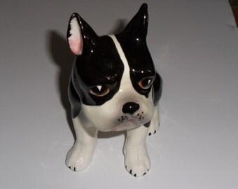 Ceramic French Bulldog Planter or Pen Holder- TOO CUTE!