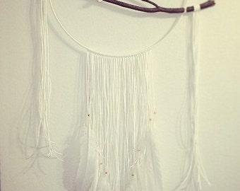 Large White Dream Catcher - Moon Goddess