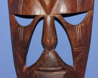 Vintage Hand Carving Wood Wall Decor Mask