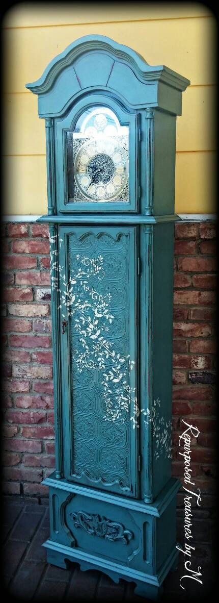 Shabby Chic Grandfather Clock Distressed Grandfather Clock
