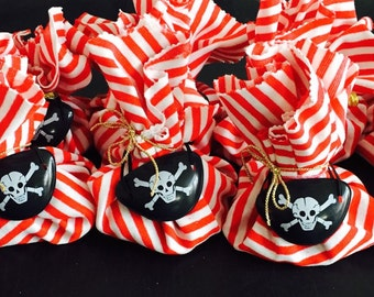 Pirate party favour loot bags
