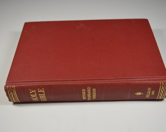 Holy Bible Revised Standard Edition Nelson 3800 Second Edition 1971 Vintage Bible Vintage Holy Bible