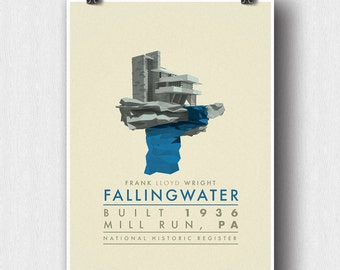 Frank Lloyd Wright's Fallingwater Poster