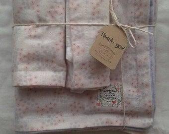 Baby blanket bundle, blanket and burp cloth, baby girl blanket, flower blanket, flannel blanket, baby gift