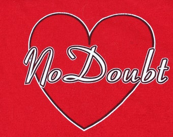 Vintage 90s No Doubt Heart Band T-Shirt