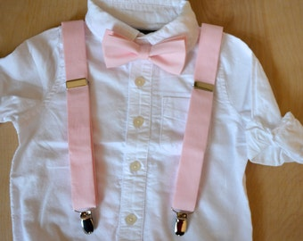 bow tie and suspenders set for boys,pink bow tie and suspenders for boys,boys clothing,ringbearer outfit,wedding clothes for boys