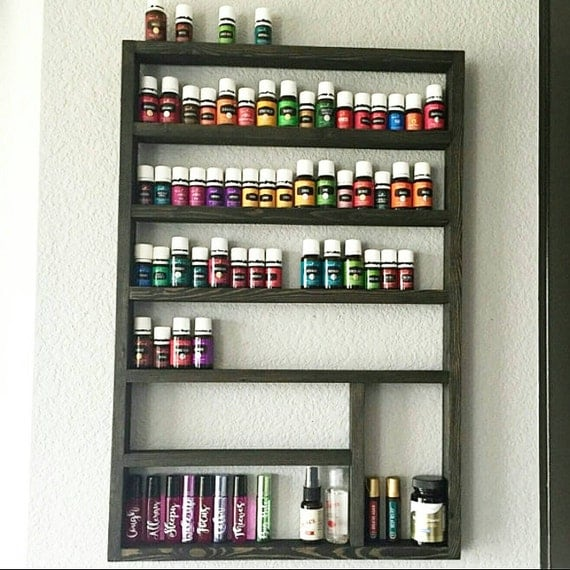 Storage Ideas For Essential Oils: Essential Oil Shelf Unique Gift Gift For Her Oil Storage