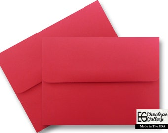 Festive Red (25 Pack) Envelope for Invitations Greeting Cards Announcements Response Showers Weddings Astrobrights Re-Entry Red A1 A2 A6 A7