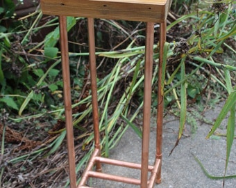 Reclaimed 2x4 & Copper Pipe Plant Stand/Table