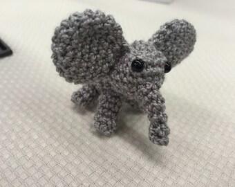 Mini Crocheted Elephant (2.5in)