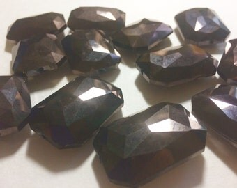 34mm Glass Crystal in Dark Brown - faceted crystals for jewelry creation, bangle making