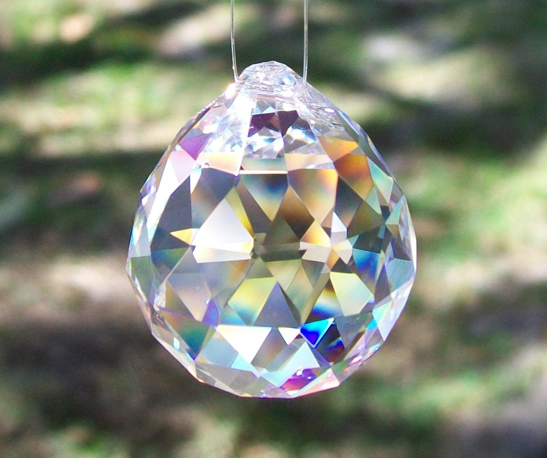 Crystal Clear Chandelier Ball Prism For Suncatcher Feng Shui