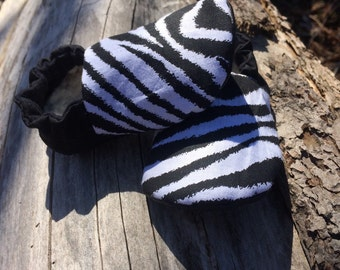 Zebra print baby shoes, leather baby shoes, baby shoes, baby booties