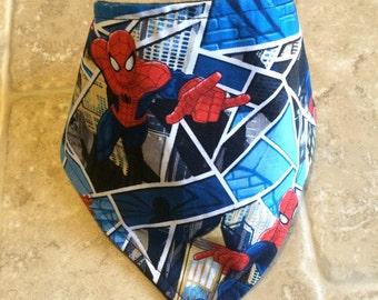 Spiderman bandana bib, baby bib, bandana bib, bibdana