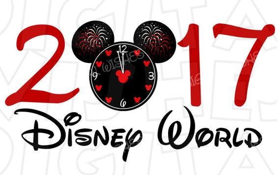 Countdown Clock New Year 2017 Disney World Mickey Mouse Head