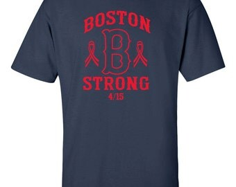 Boston B Strong Marathon Men's Tee Shirt 424R