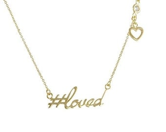 Hashtag Collection #loved Necklace