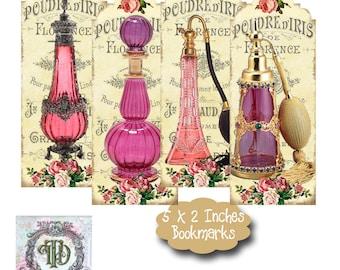8 Perfume Bottle Bookmarks