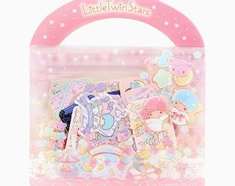 50 Kawaii Japanese LITTLE TWIN STARS Flake Stickers Sack