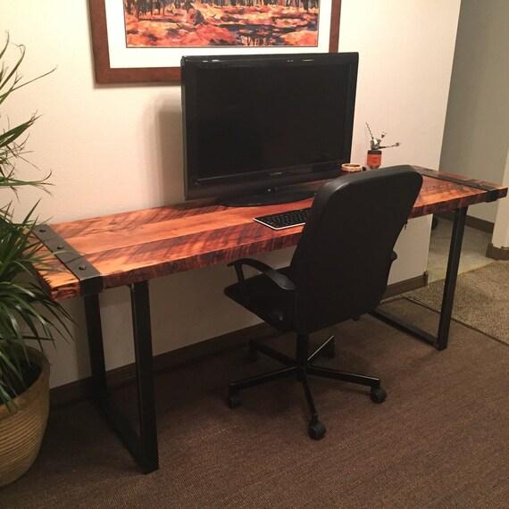 Industrial Desk. Reclaimed wood desk. Rugged desk. Wood and steel desk ...