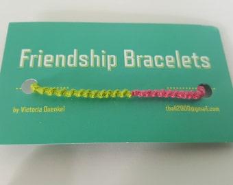 LS13 Green/Pink Friendship Bracelet