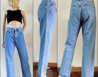 High waisted straight leg jeans womens French boyfriend jeans mom pant jeans 29 inch waist