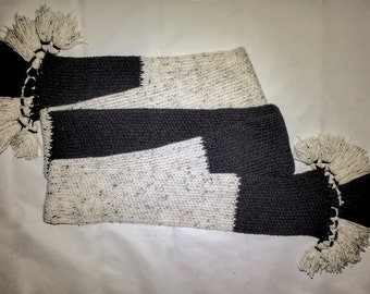 Two Toned Knitted Scarf