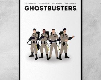 Ghostbusters   Bill Murray   Dan Aykroyd   Harold Ramis   Ernie Hudson   Minimal Artwork Poster