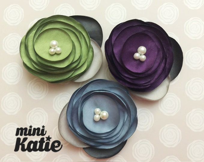 mini Katie Pearl Corsage Hair Barrette Hair clips flower hair Accessory for Baby girl Toddler and kids