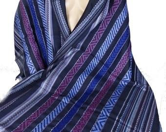 ETHNIC PASHMINA wool shawl stole scarf shawl stole LJ17 blue black