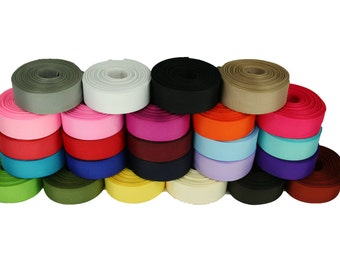 """8 Yards Rolled up 5/8"""" GROSGRAIN Ribbon 100% Polyester For Hair Bows Choose Color"""