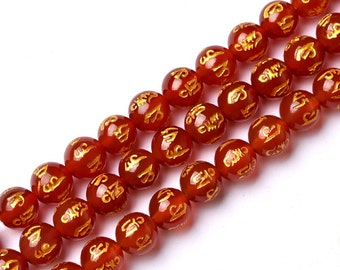 DIY Hand-Beaded Red Agate Crystal Loose Beads Wholesale 37cm string(6-14mm)-WEN24961220661-MAD