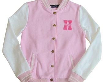 "Pink Varsity jacket Cono Dalessio ""Team Cono"" Collection - varsity Womens S/M"