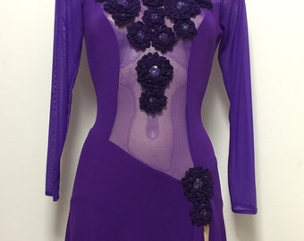 Purple ice skating dress