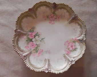 R S Prussia Decorative Floral Plate