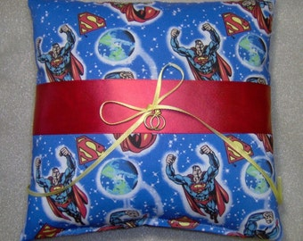 Superman Wedding Ring Bearer pillow