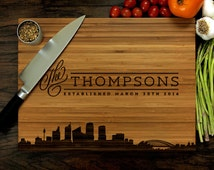 Unique Wedding Anniversary Gifts Australia : Personalized Cutting Board, Custom Wedding Gift, Anniversary Gift ...
