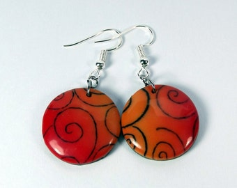 Stamped Polymer Clay Earrings