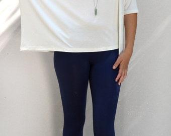 Blue leggings/ yoga leggings/ sport leggings/ long leggings.