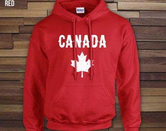 Canada Day adult unisex hoodie, crewneck, campfire shirt, canada day sweater, canadian hoodie, canada day apparel, canada day hood- CT-065