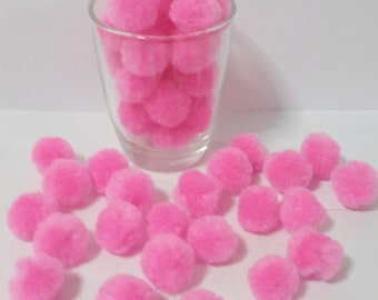 big  pom pom sweet pink 20 balls DIY handmade Party Yarn Pom Poms handcraft