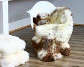 Genuine Natural , unique Sheepskin Rug, Pelt, soft, super thick fur XXL Extra Large
