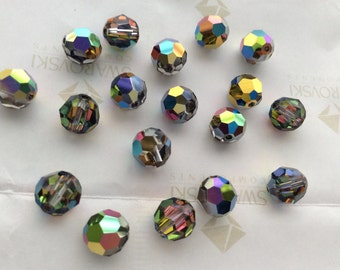 Swarovski #5000 Crystal Vitrail Medium Round Ball Faceted Beads 6mm 8mm 10mm 14mm