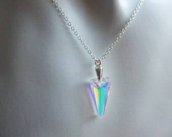 Swarovski Crystal Spike Necklace.