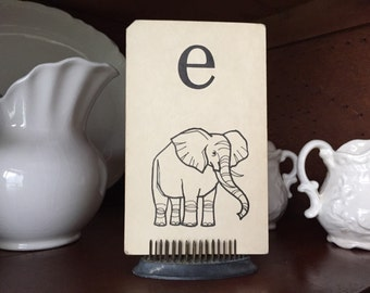 Small Letter E Flashcard--elephant--gallery wall or nursery
