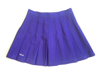80s 90s Pastel Grunge Purple Pleated Tennis Skirt Head